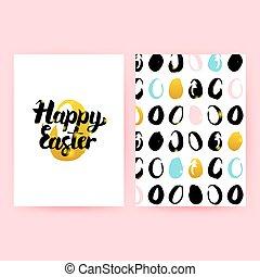 Happy Easter Retro Posters