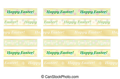 Happy Easter ribbons