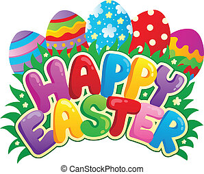Happy Easter sign theme image 3