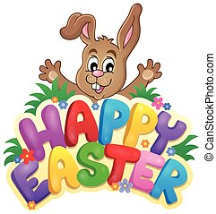 Happy Easter sign theme image 6
