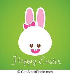 Happy easter smile rabbit bunny cartoon