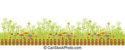 Happy easter - early spring garden. Easter day - birth of ...