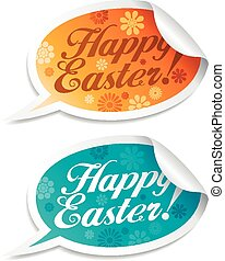 Happy Easter stickers.