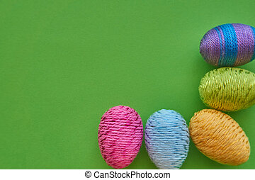 Happy Easter symbols - colorful easter eggs