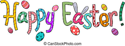 Happy Easter - Text Featuring Easter Greetings