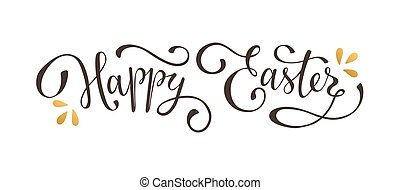Happy Easter Text On Black A 3d Render Of Metal Extruded