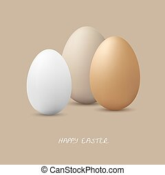 Happy Easter - Three eggs