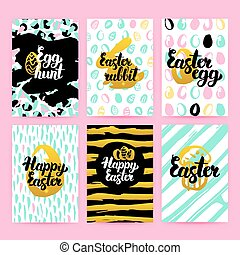 Happy Easter Trendy Hipster Posters