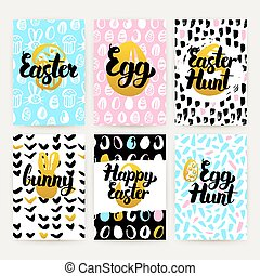 Happy Easter Trendy Posters