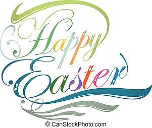 Happy Easter typographic design illustration