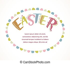 Happy easter - vector card