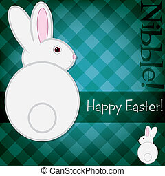 Happy Easter! - Easter bunny card in vector format.