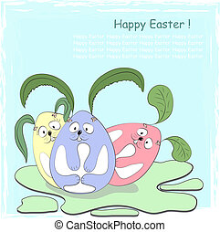 Happy Easter. Vector greeting card