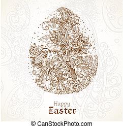 Happy Easter vintage background