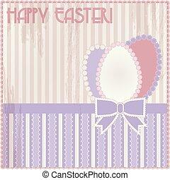 Happy Easter vintage card, vector