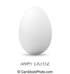Happy Easter - White clear egg