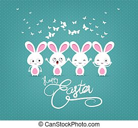 happy easter with bunny funny