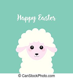 Happy Easter with sheep