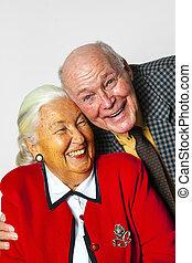 happy elderly couple enjoy life