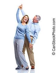 Happy elderly couple. - Happy senior couple in love. ...