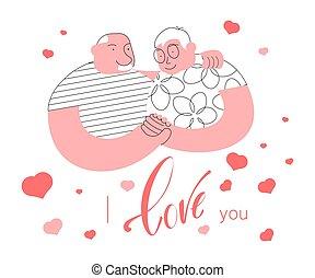 Happy Elderly Couple In Love