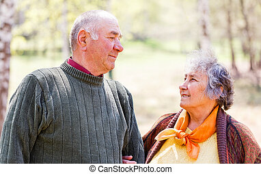 Happy elderly couple