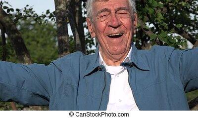 Happy Elderly Old Man