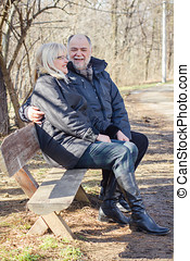 Happy Elderly Senior Couple Relaxing