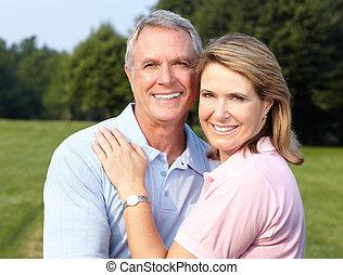 seniors couple