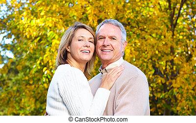 elderly seniors couple