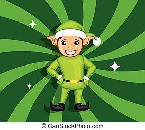 Happy Elf Character Standing Pose