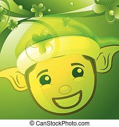 Happy Elf Face Patrick%u2019s Day BG