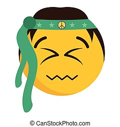 Happy emoji with its eyes closed