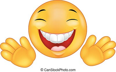 Happy emoticon smiley cartoon