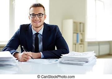 Happy employee