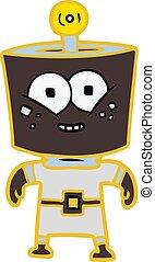 happy energized cartoon robot