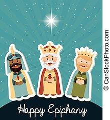 happy epiphany design - happy epiphany design, vector...