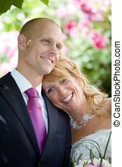 Happy ever after - Beautiful young couple having just...