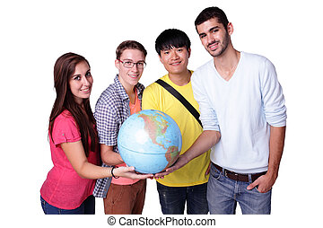 Happy exchange student - Smile group of happy exchange...