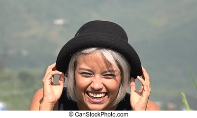 Happy Excited Asian Woman