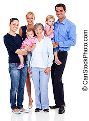 happy extended family - portrait of happy extended family...