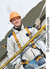 happy facade builder worker