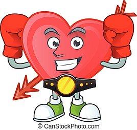 Happy Face Boxing arrow love cartoon character design