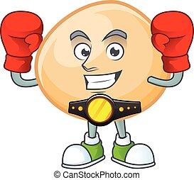 Happy Face Boxing brown hoppang cartoon character design