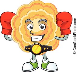 Happy Face Boxing chinese mooncake cartoon character design