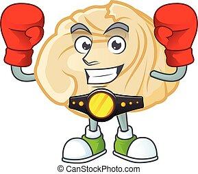 Happy Face Boxing dumpling cartoon character design