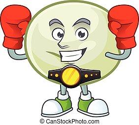 Happy Face Boxing green hoppang cartoon character design