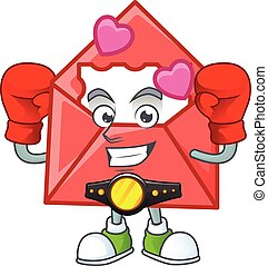 Happy Face Boxing love letter cartoon character design