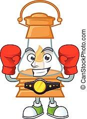 Happy Face Boxing oil lamp cartoon character design