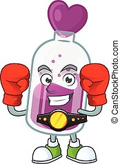 Happy Face Boxing purple potion cartoon character design